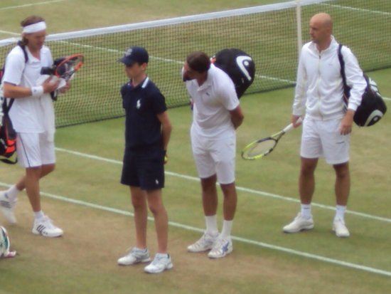 The All England Lawn Tennis Club: He's behind you