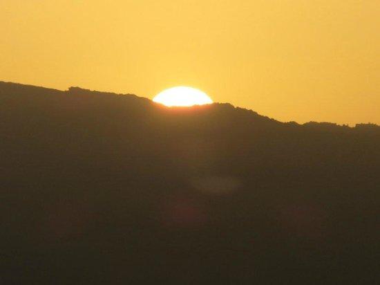 Alhaurín Golf Club: Coucher de soleil sur les montagnes