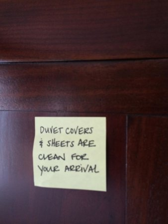 Hampton Inn & Suites Ocean City: Loved this Housekeeping Note...they value cleanliness!