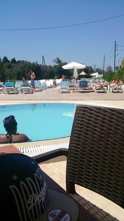 Ekati Hotel : View from the bar area of the pool area!