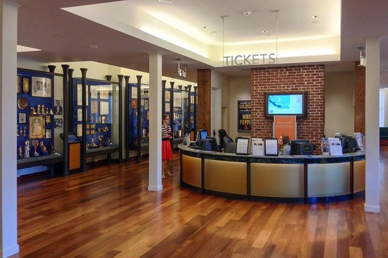 Walt Disney Family Museum: The ticket counter.