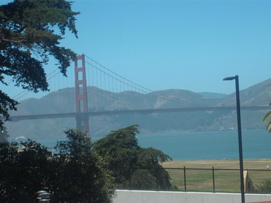 Walt Disney Family Museum: The Golden Gate Bridge from the window.
