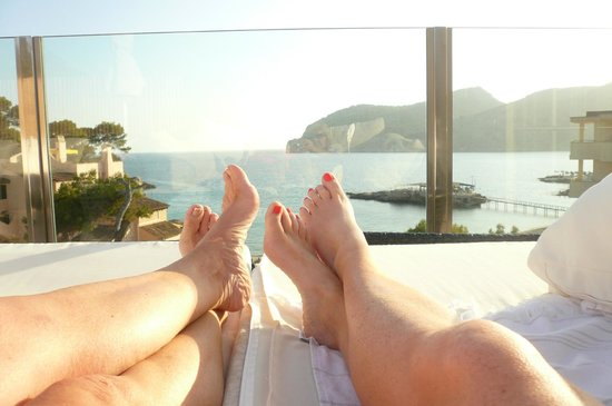 H10 Blue Mar Boutique Hotel: Watching the sun set on Roof Terrace