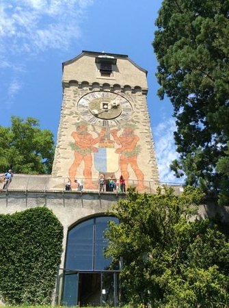 Museggmauer: The clock tower