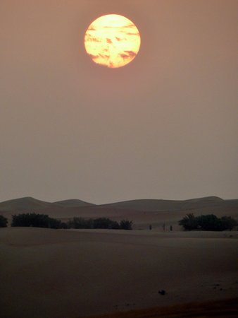 Al Maha, A Luxury Collection Desert Resort & Spa: Desert sunset (via camel)