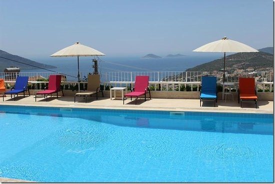 Lavender's Lodge : The Pool With Sea View