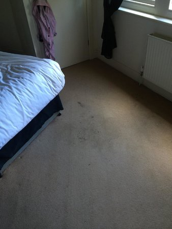 Smart and Simple Hotel: Bedroom: stained carpet