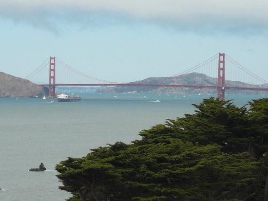 Lands End : View Of The Golden Gate Bridge