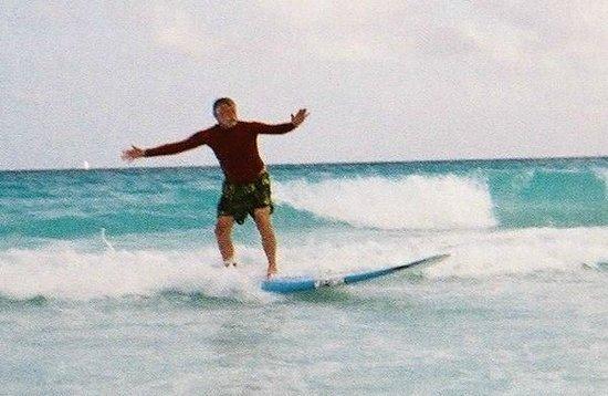 360 Surf School: Woohoooo.  I'm actually surfing.