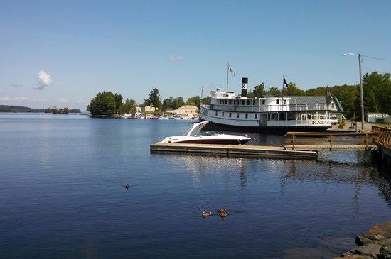 """Katahdin Cruises and Moosehead Marine Museum: The """"Kate"""" docked."""
