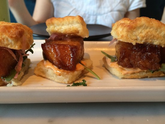 Chalkboard: Pork belly biscuits (to die for)