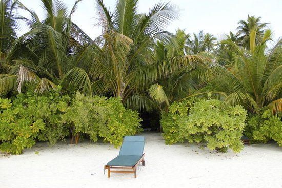 Medhufushi Island Resort: Way out from the Beach Villa to the beach