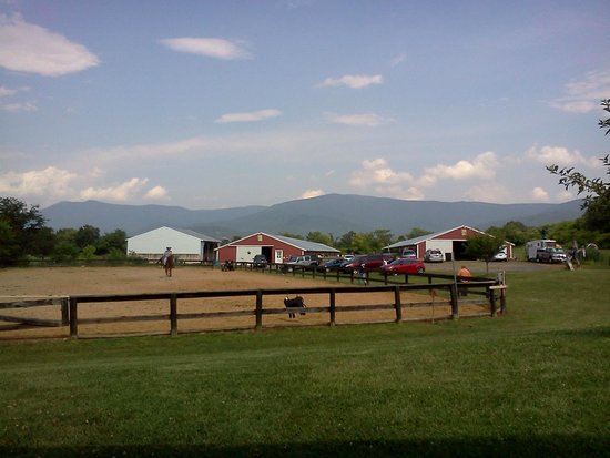 Jordan Hollow Stables: Scenic view of the ring and stables
