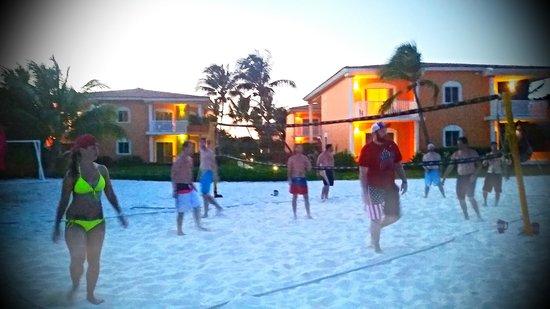 Ocean Maya Royale Beach Volleyball At Sunset