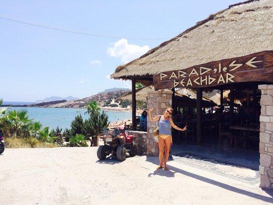 Paradise restaurant: Muy agradable, muchas mesas, buena comida y buenas vistas..