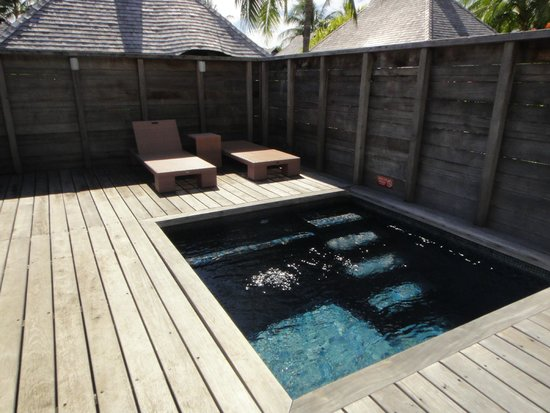 Hilton Moorea Lagoon Resort & Spa : Plunge Pool in the Garden Bungalow