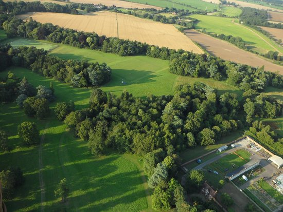 Wizard Balloons: Nowton Park from the air