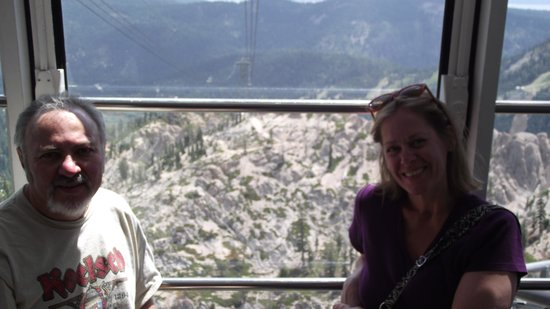 Squaw Valley Ski Area: Riding the cable car
