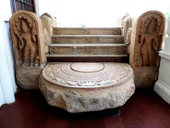 Colombo National Museum : Moonstone, Guardstone and Balustrade, Anuradhapura