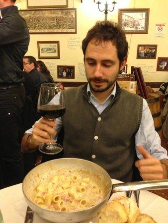 Taverna Trilussa: Degustando una excelente Gricia