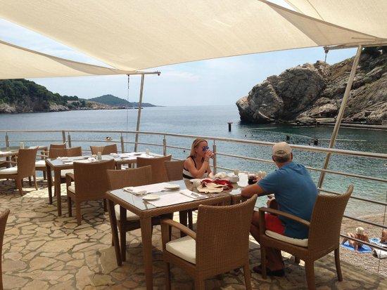 Hotel Bellevue Dubrovnik : Beach restaurant
