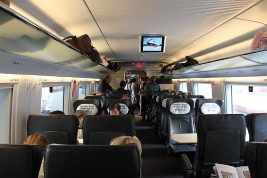 Sapsan Bullet Train: Conforto do trem (business class)