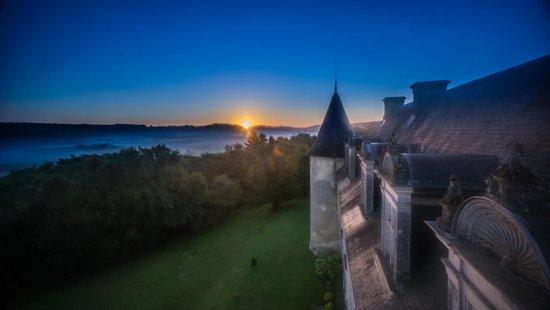 Château de La Côte : Le lever du soleil depuis la tour