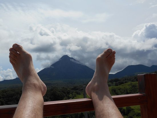 Linda Vista Hotel : Relaxing on the observation deck