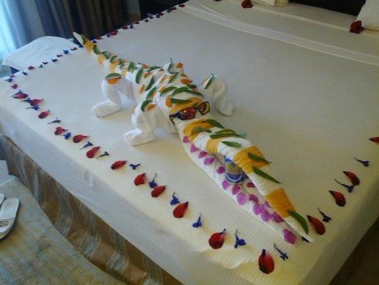 Stella Di Mare Beach Hotel & Spa : Tawel Art