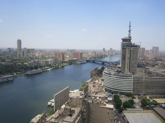 Ramses Hilton: The Nile, viewing from the 25th floor.