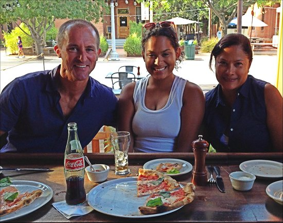 Pizzeria Bianco: Excellent service at the bar from Berto, who snapped our picture