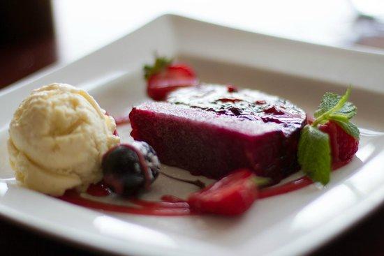 Taylor's Restaurant : Summer Berry Jelly Dessert with Vanilla Ice Cream