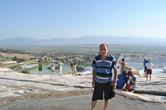 Hierapolis & Pamukkale : A view of the pool