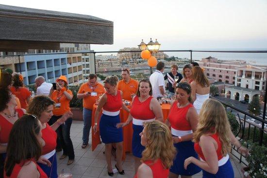 Golden Tulip Vivaldi Hotel: feestje op dakterras