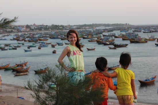 Little Mui Ne Cottages: Бухта у рыбачьей деревни Муйне