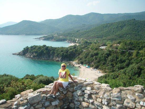 Akrathos Beach Hotel: поездка на джипе, крепость Стагера.
