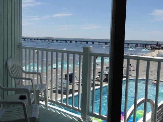 Boatslip Resort: view from balcony