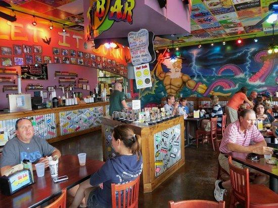 Tijuana Flats: Inside dining