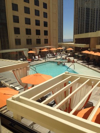 Marriott's Grand Chateau: View from our window - 5th floor pool
