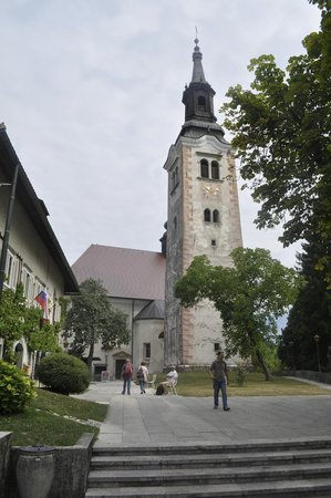 Bled Island : Cafe and Clock tower