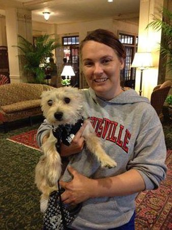 Hawthorne Hotel : My pup and me in the lobby