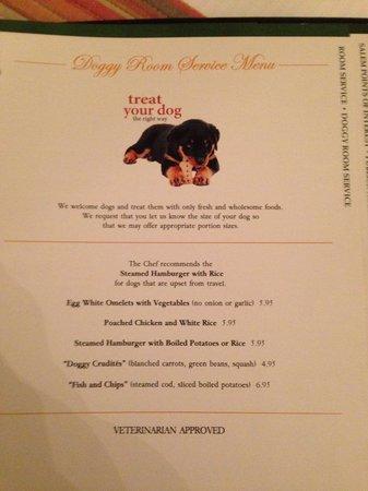 Hawthorne Hotel: Doggie Room Service