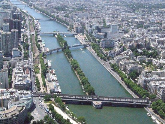 Seine River: Река с вершины Эйфелевой Башни.