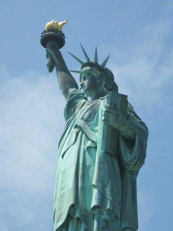 Statue de la liberté : primer plano de liberty
