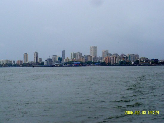 Elephanta Caves: View of Mumbai from the Boat