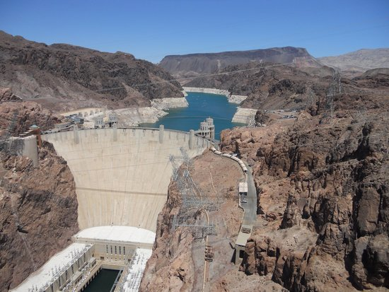 Boulder City/Hoover Dam Museum : Hoover Dam from Pat Tillman Bridge