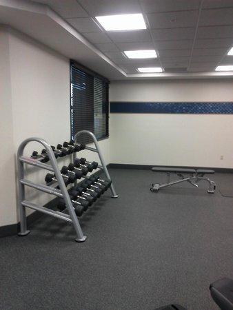 Hampton Inn & Suites I-35 / Mulvane: Fitness Room weights