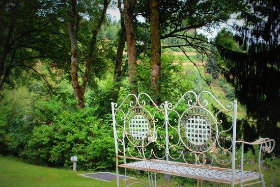 Hostellerie La Cheneaudiere - Relais & Chateaux : Vue depuis le jardin
