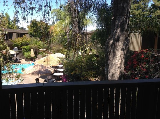 pool and restaurant Picture of Dinahs Garden Hotel Palo Alto