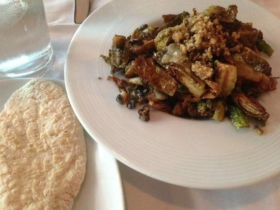 Ayse Meze: Brussels sprouts done similar to Caponata, with raisins. Very Turkish.